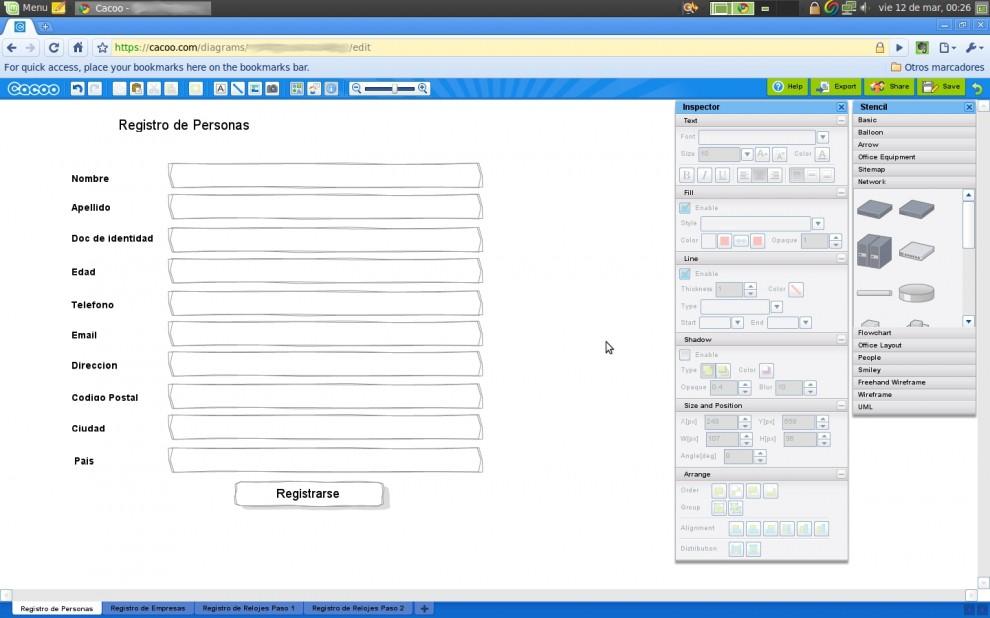 Cacoo.com Diagramas