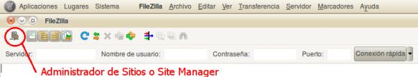 Boton Administrador de Sitios - Site Manager